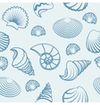 Sea shell hand drawn pattern vector image