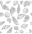 Seamless marine pattern with shells vector image