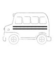 sketch of a school bus vector image