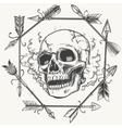 Sketch smoke skull and arrows frame