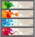 splash banners vector image vector image