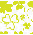 spring pattern with green clover vector image vector image