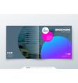 square brochure design magenta corporate business vector image vector image