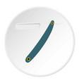 straight razor icon circle vector image vector image