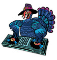 thanksgiving turkey character isolate on white vector image vector image