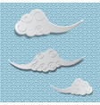 three chinese cloud traditional background vector image