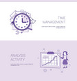 time management and analysis activity concept vector image vector image