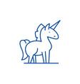 unicorn line icon concept unicorn flat vector image