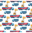 warehouse delivery equipment element on pattern vector image