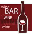 wine and bar vector image vector image