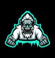 yeti mascot logo vector image