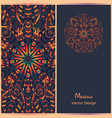 brochure templates with ethnic pattern business vector image