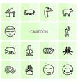 14 cartoon icons vector image vector image