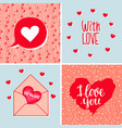 a set backgrounds with hearts letters and vector image vector image