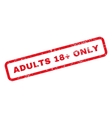 Adults 18 Plus Only Text Rubber Stamp vector image vector image