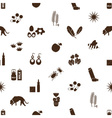 allergy and allergens icons seamless pattern eps10 vector image vector image