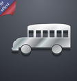 Bus icon symbol 3D style Trendy modern design with vector image