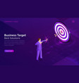 business target solution isometric concept vector image