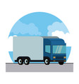 cargo truck vehicle vector image vector image