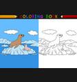 cartoon seal coloring book vector image vector image