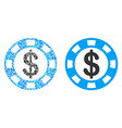 casino chip collage of dollars vector image vector image