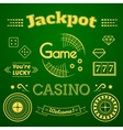 Casino logo and label set game vector image vector image