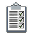 checklist document isolated icon vector image vector image