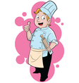 Chef Giving a Thumbs-up Cartoon vector image