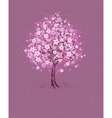 cherry on pink background vector image vector image