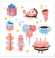 Child Birthday Party Sweets And Attributes vector image vector image