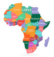 colorful map africa continent vector image