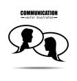 communication concept design vector image vector image