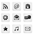 contact buttons set e-mail icons vector image
