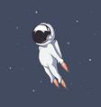 cute astronaut flies through space at high speed vector image