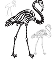 Decorative flamingo vector image vector image