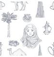 dubai hand drawn pattern vector image vector image