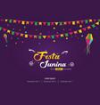 festa junina brazilian festival cover banner vector image