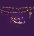 festa junina brazilian festival cover banner vector image vector image