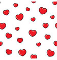 flat hearts seamless pattern love card vector image vector image