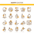 flat icons easter vector image vector image