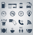 Gas station icons Fuel silhouette icons Monochrome vector image vector image
