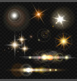 glowing lights stars and sparkles vector image vector image