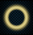 gold circle isolated on transparent black vector image vector image