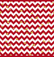 gold heart seamless pattern red-white geometric vector image vector image