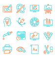 graphic design studio color linear icons set vector image vector image