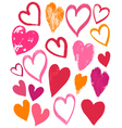 hand drawing valentines heart vector image vector image