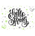 hand lettering greetings text - hello vector image vector image