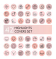 highlight icons set social vector image vector image