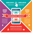 Infographic Concept - Scheme with Icons vector image vector image