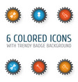instrument icons set collection of tomahawk vector image vector image